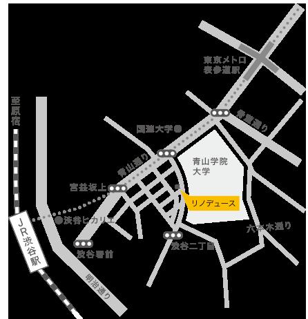 リノデュースの地図